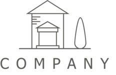House company logo black