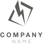 Company logo bolt black