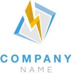 Company logo bolt color