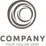 Company logo sphere black