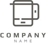 Mobile business logo black
