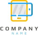 Mobile business logo color