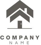 Business logo home black
