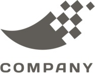 Business logo pixels black