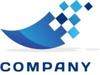 Business logo pixels color