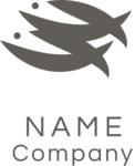 Fish business logo black