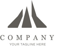 Business logo paths black and white