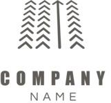 Company logo arrow black