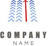 Company logo arrow color