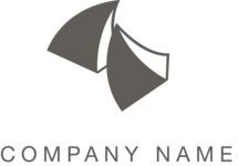 Abstract company logo black