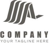 Company logo peek black and white