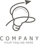 Business logo lightbulb black