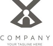 Company logo black cross