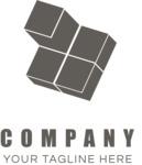 Business logo cubes black