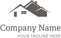 Business logo houses black