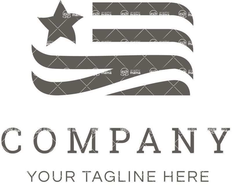 Business logo flag black