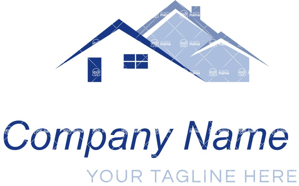 Business logo houses color