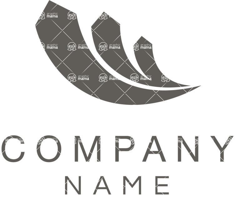 Company logo growth black
