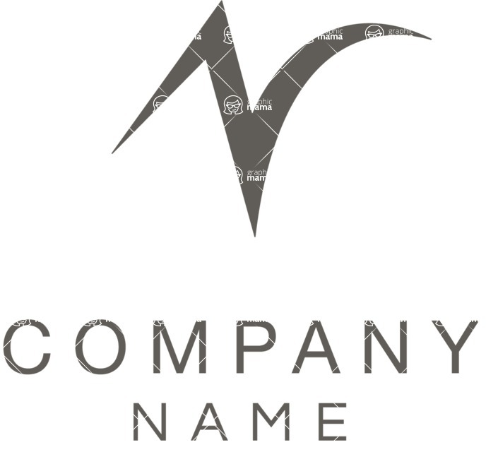 Company logo abstract black