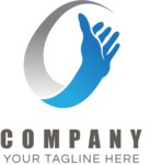 Business logo hand color