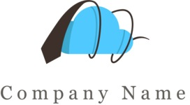 Business cloud logo color