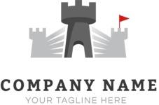 Company logo castle color