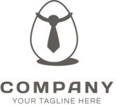 Business logo egg black