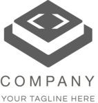 3D business logo black