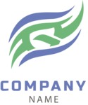 Company logo waves color