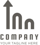 Company growth logo black