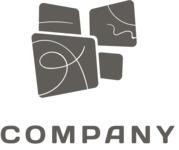 Creative company logo black
