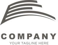 Company logo surface black