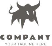 Business logo bull black