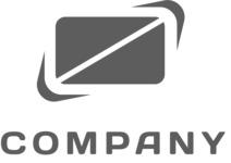 Business logo halves black