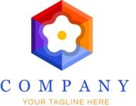 Business logo flower color