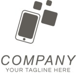Company logo mobile black