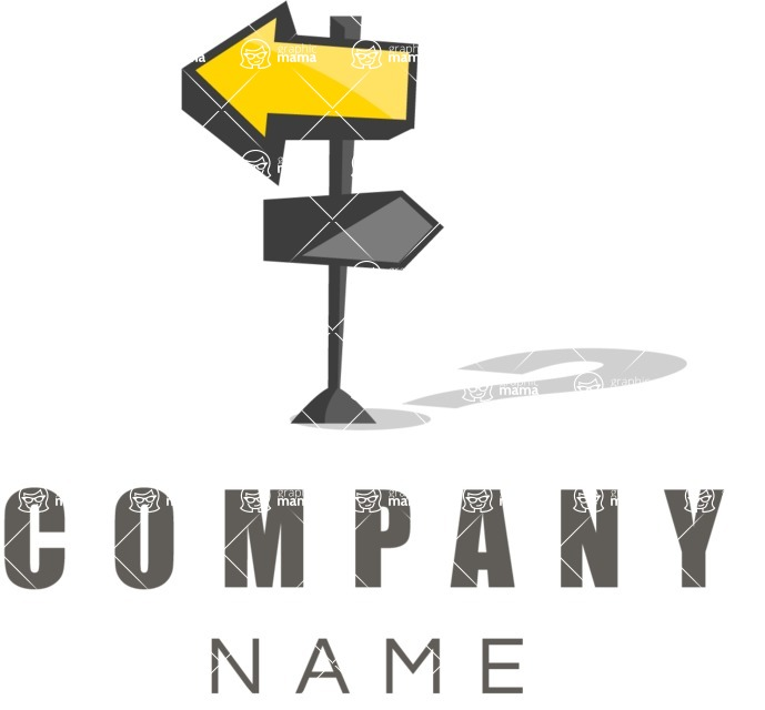 Business logo road signs color
