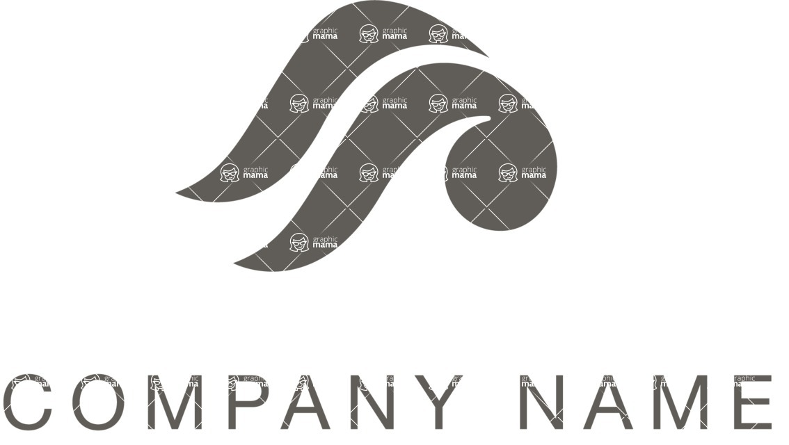 Business Logo Templates - vector graphics in a pack from GraphicMama - Company logo black waves