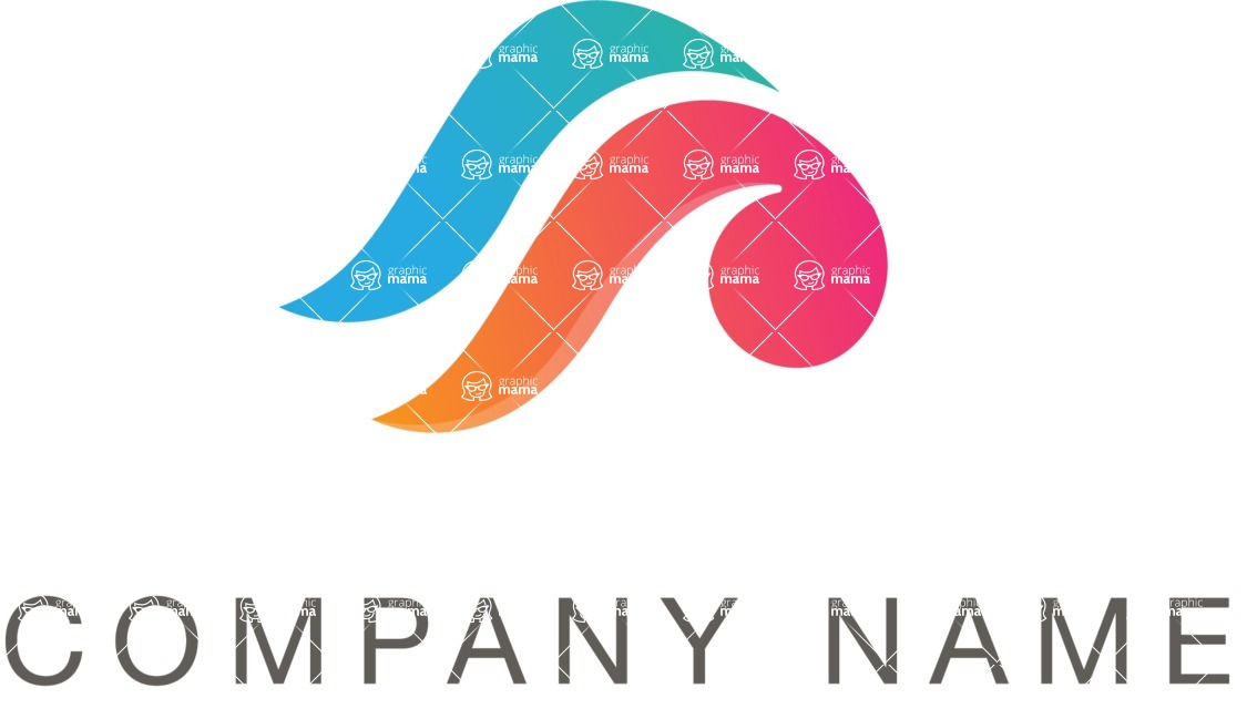 Business Logo Templates - vector graphics in a pack from GraphicMama - Company logo color waves