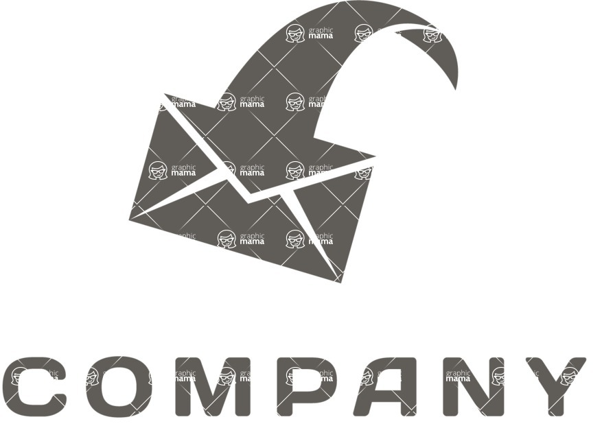 Business Logo Templates - vector graphics in a pack from GraphicMama - Business logo mail black