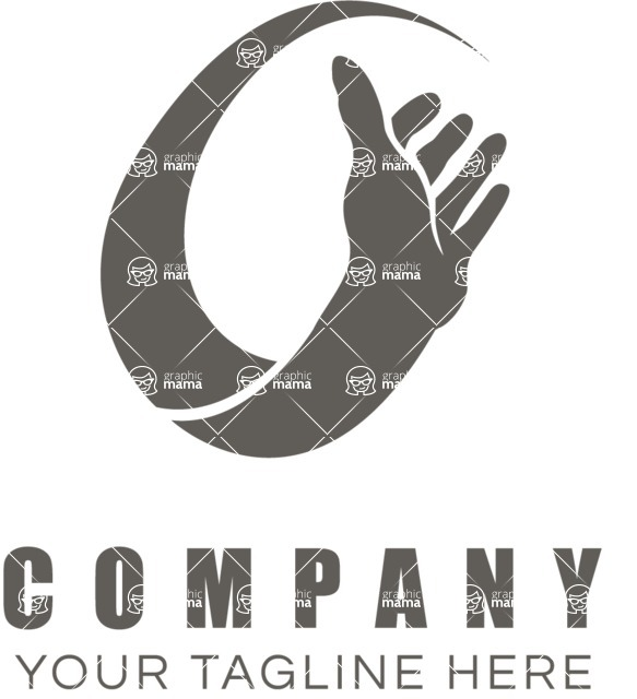 Business Logo Templates - vector graphics in a pack from GraphicMama - Business logo hand black