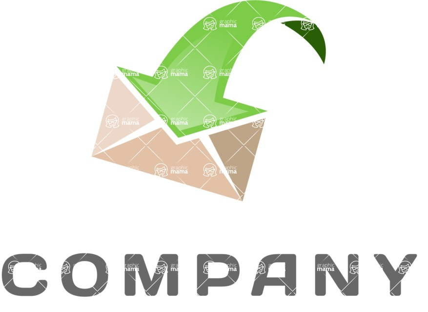 Business Logo Templates - vector graphics in a pack from GraphicMama - Business logo mail color