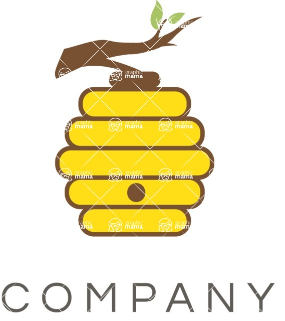 Business Logo Templates - vector graphics in a pack from GraphicMama - Business logo honey color