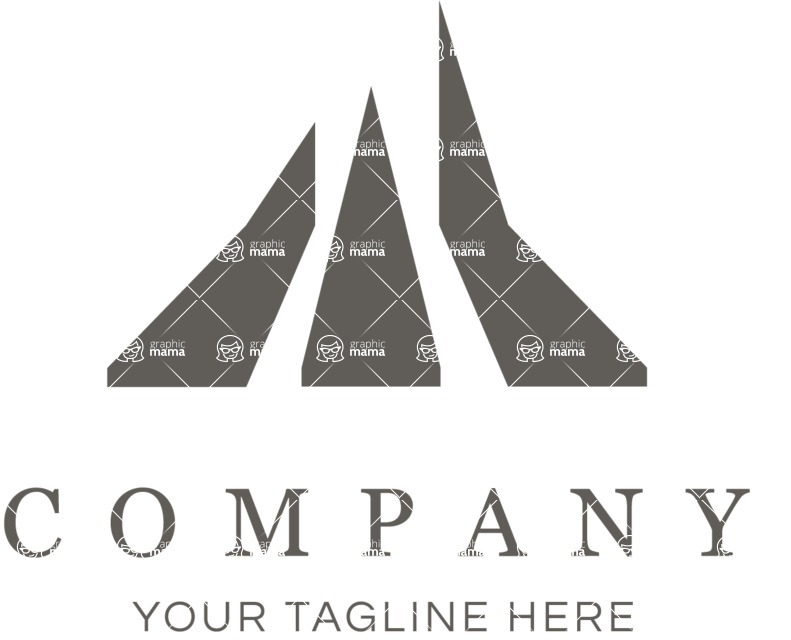 Business Logo Templates - vector graphics in a pack from GraphicMama - Business logo paths black and white