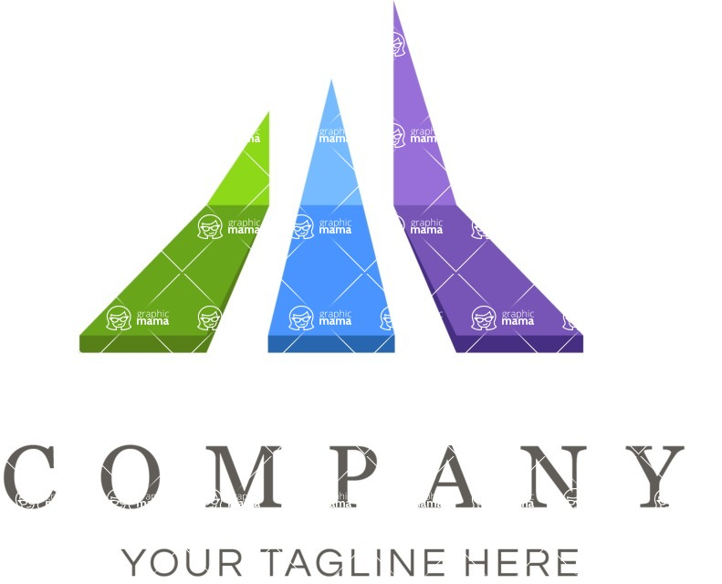 Business Logo Templates - vector graphics in a pack from GraphicMama - Business logo paths color