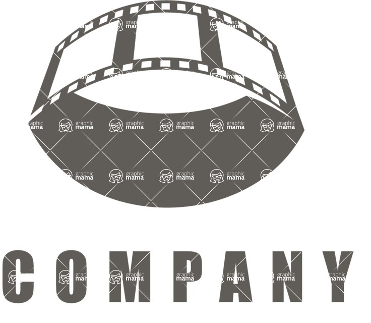 Business Logo Templates - vector graphics in a pack from GraphicMama - Business logo movie black