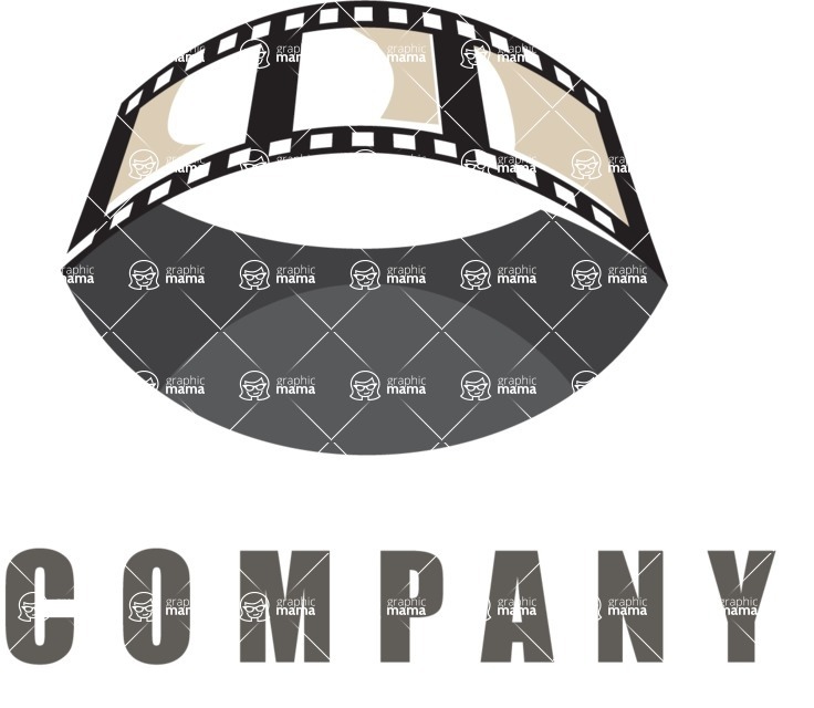 Business Logo Templates - vector graphics in a pack from GraphicMama - Business logo movie color