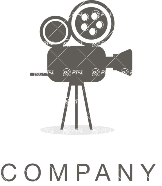 Business Logo Templates - vector graphics in a pack from GraphicMama - Company logo video black