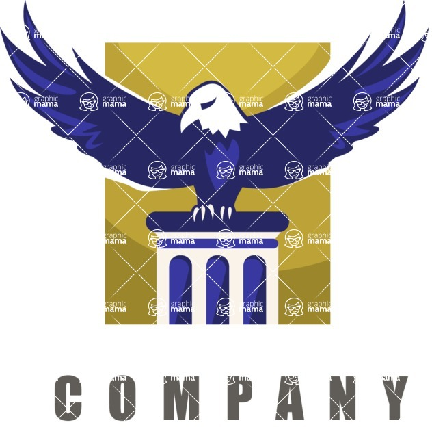 Company logo eagle color