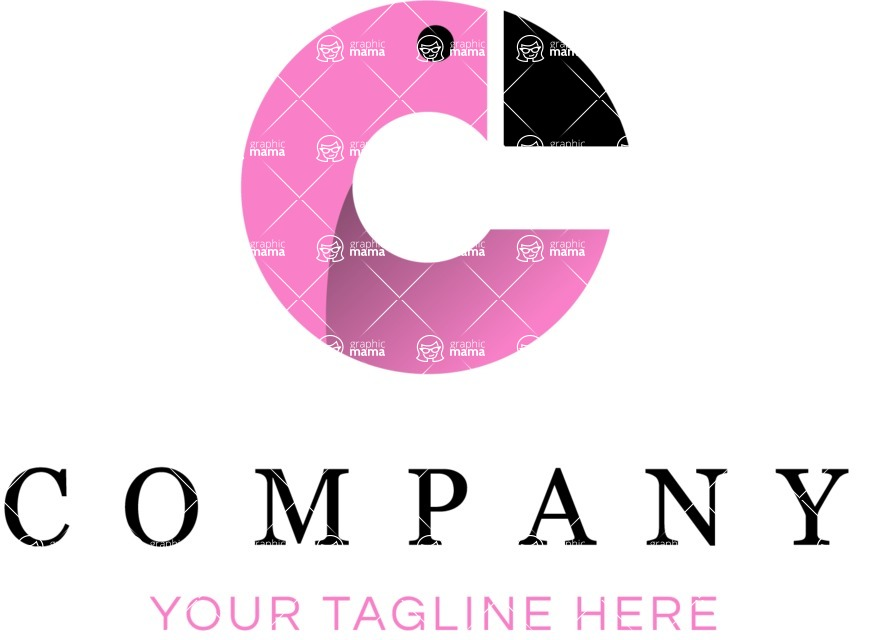 Business Logo Templates - vector graphics in a pack from GraphicMama - Company logo flamingo color